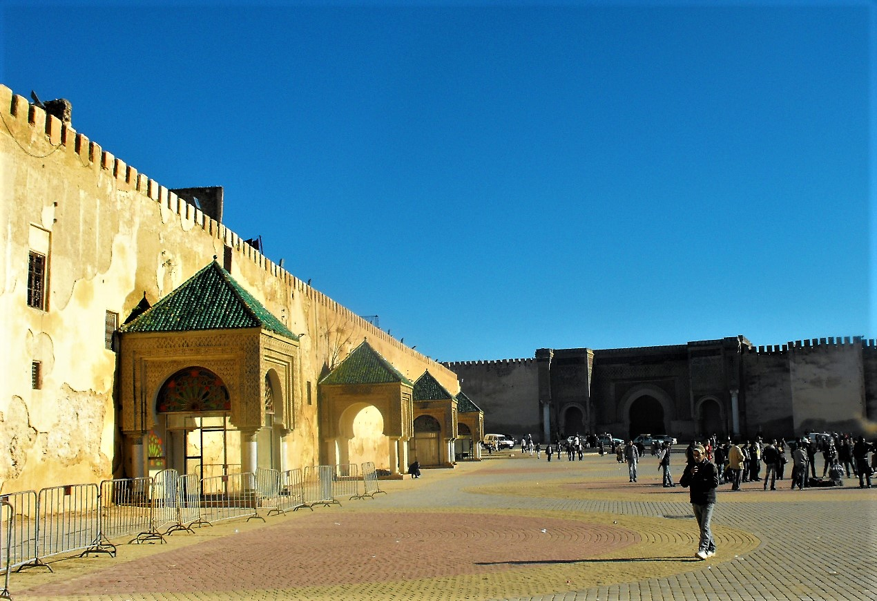 the old town of Meknes is sorrounded by huge walls